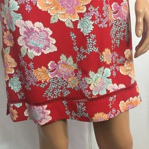 Old Navy Dresses - OLD NAVY  floral printed red dress size 14